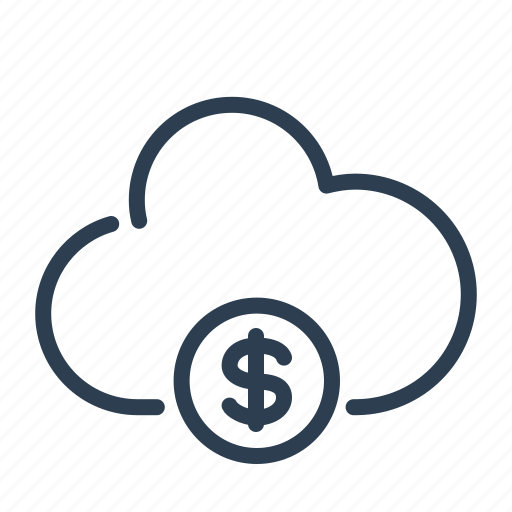 business, cash, cloud, currency, dollar, money, profit icon