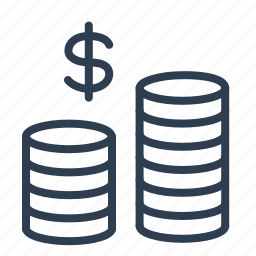 budget, cash, coins, currenct, dollar, finance, money icon
