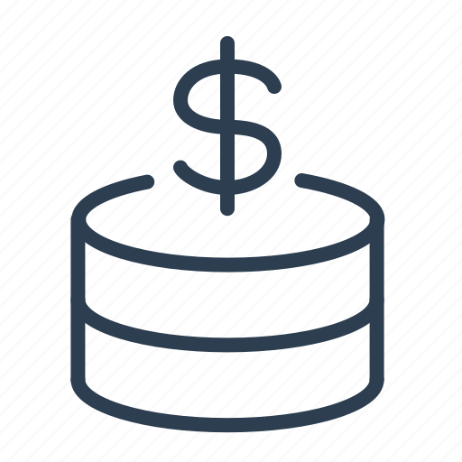 cash, coins, currency, dollar, finance, money, savings icon