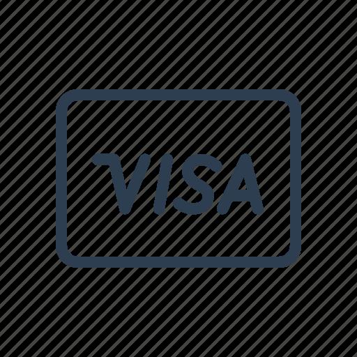 cash, credit card, finance, money, payment method, shop, visa icon