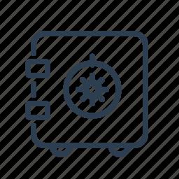 bank, deposit, locker, money, safe, strongbox, vault icon