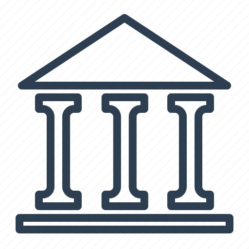 bank, banking, building, finance, goverment, institution, pantheon icon