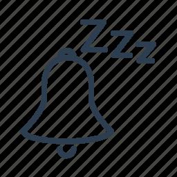 alarm, bell, mute, notification, off, silent, sleep icon