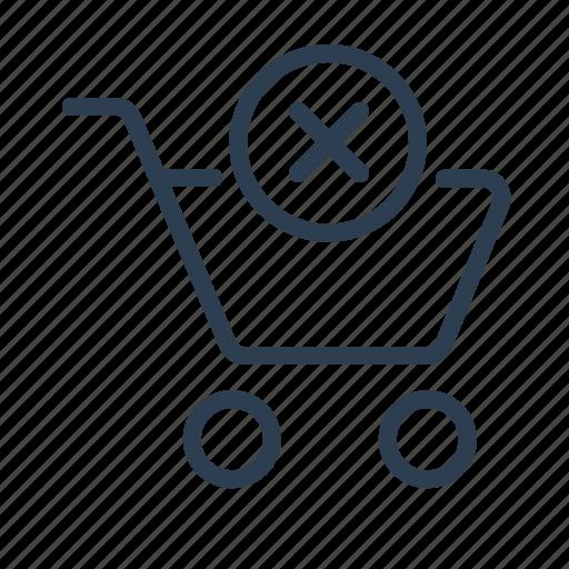 basket, cancel, cart, delete, ecommerce, remove, shopping bag icon