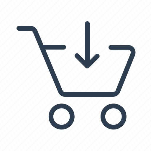 add, arrow down, basket, cart, ecommerce, purchase, shopping bag icon