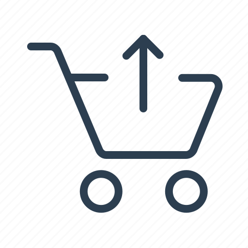 arrow up, basket, cart, delete item, ecommerce, remove, shopping bag icon