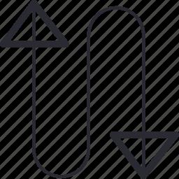 arrow, arrows, bottom, control, navigation, top, up icon