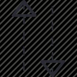arrow, bottom, control, navigation, top icon