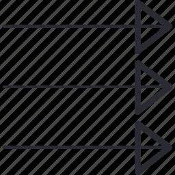 arrow, arrows, control, navigation, right icon