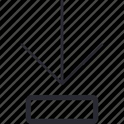 arrow, bottom, control, down, navigation icon