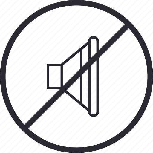 control, forbidden, mute, navigation, silence, sound, volume icon
