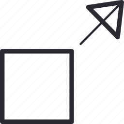 arrow, control, full, navigation, screen icon