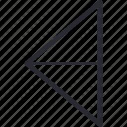 arrow, back, control, left, navigation, return icon