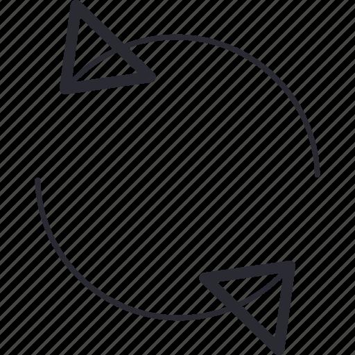 arrows, control, navigation, refresh icon