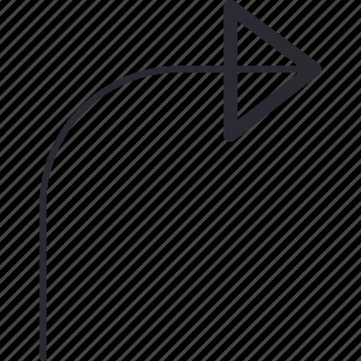 arrow, back, control, navigation, return icon