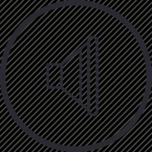 control, navigation, volume icon
