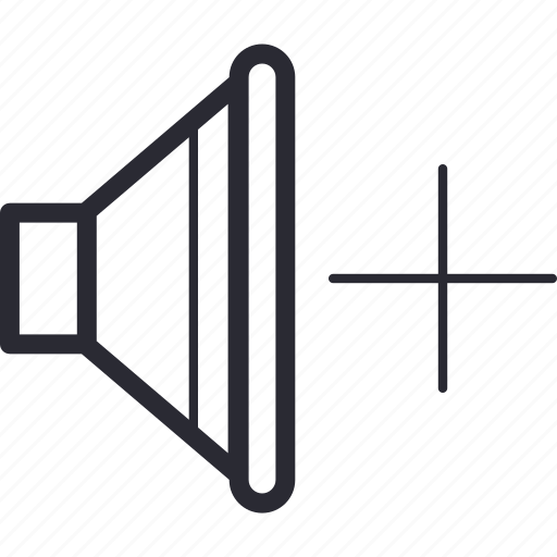 control, navigation, plus, volume icon