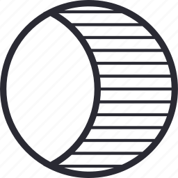 crescent, half, moon, night, weather icon