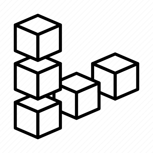 abstract, bricks, creative, design, shape icon