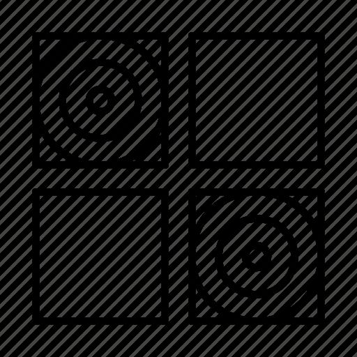 abstract, creative, design, shape, tile icon