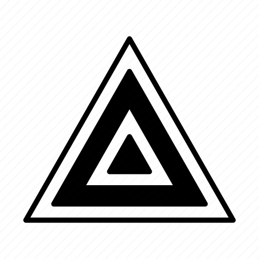 abstract, creative, design, shape, triangle icon