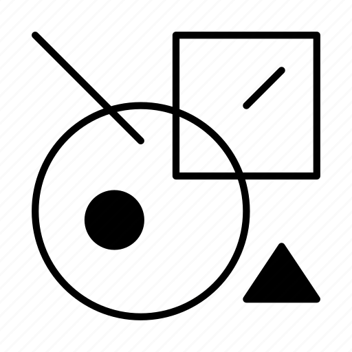 abstract, creative, design, geometry, round, shape, suprematism icon