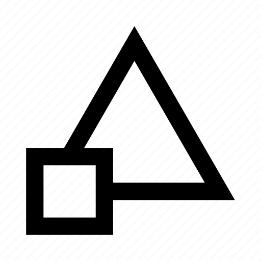 abstract, figures, mark, square, triangle icon