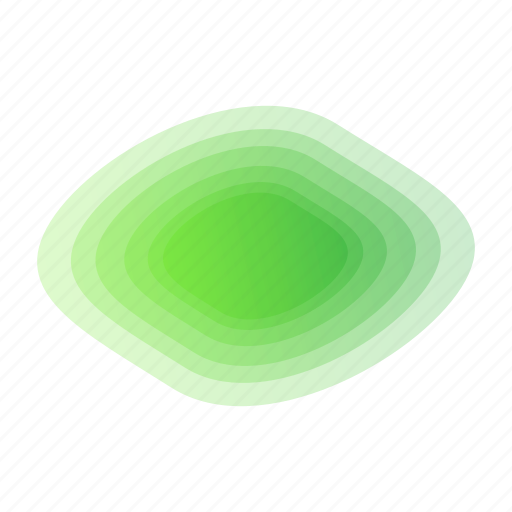 abstract, bubble, geometric, green, leaf, rainbow icon