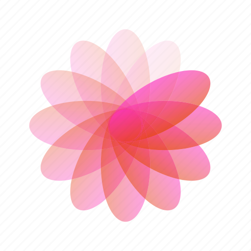 abstract, bubble, flower, geometric, leaf, rainbow icon