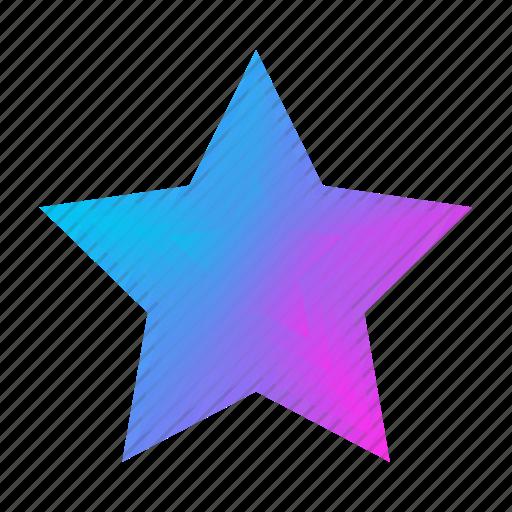 abstract, bubble, geometric, leaf, rainbow, star icon