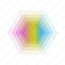 abstract, bubble, geometric, leaf, rainbow icon