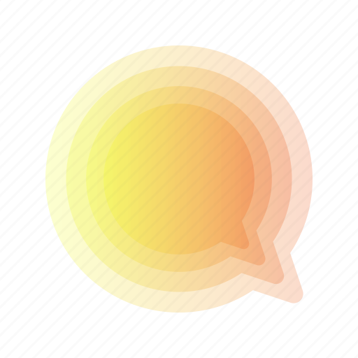 abstract, bubble, chat, geometric, leaf, message, rainbow icon