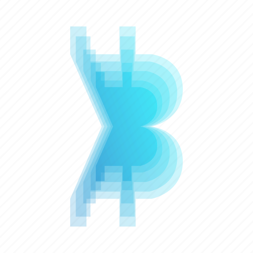 abstract, bitcoin, bubble, currency, geometric, leaf, rainbow icon