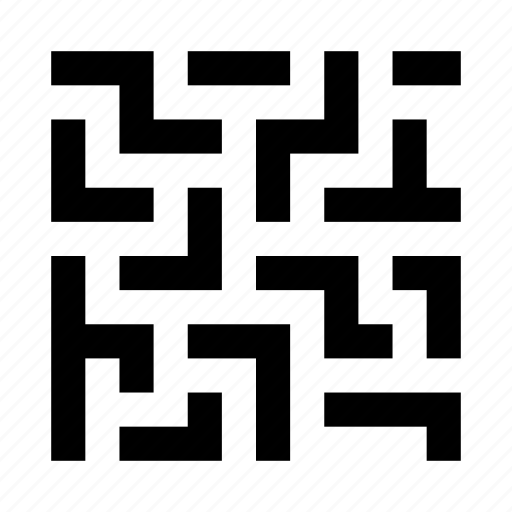 abstract, figure, issue, maze, puzzle, solution icon