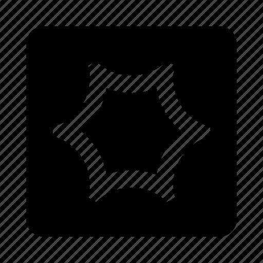 abstract, figure, hexagon, umbrella icon