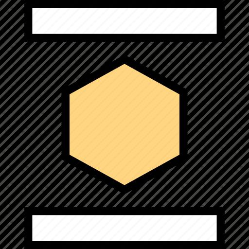 abstract, center, design, hexagon icon