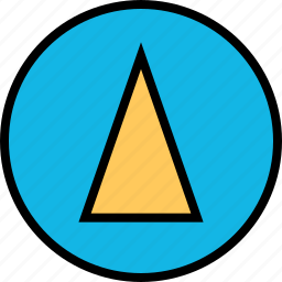 abstract, cone, design, point, up icon