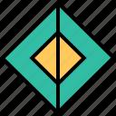 abstract, hexagon, center, creative