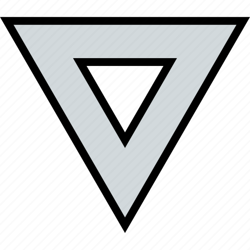 abstract, creative, down, triangle icon