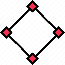 abstract, connect, creative, dots, edges icon