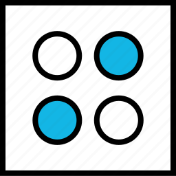 abstract, creative, dice, dots, four icon