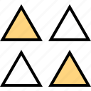 abstract, creative, four, triangles