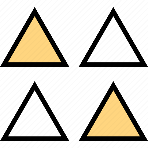 abstract, creative, four, triangles icon