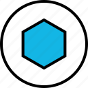 abstract, design, hexagon, target icon
