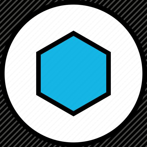 abstract, design, hexagon, target icon