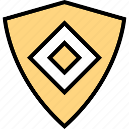 creative, cube, design, shield icon
