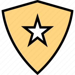 abstract, creative, shield, star icon
