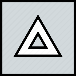 abstract, creative, triangle, up icon