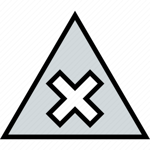 abstract, design, triangle, x icon