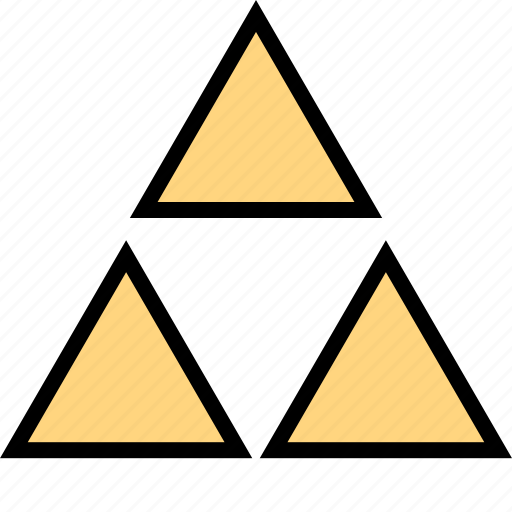 abstract, design, three, triangles icon